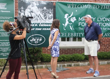 """Corbett Public Relations client Marty Lyons of the Marty Lyons Foundations was interviewed by FiOS1's Jessica Fragoso for the """"Heroes On Our Island,"""" segment."""
