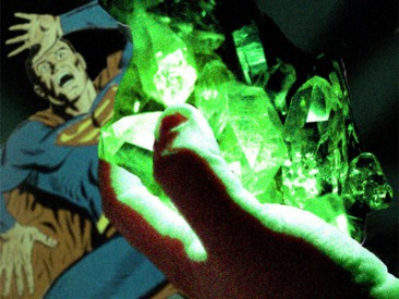 Superman suffering the effects of kryptonite.