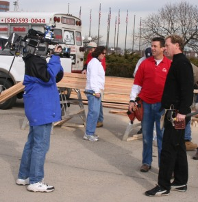 Morning TV at the Nassau Coliseum Home Show.