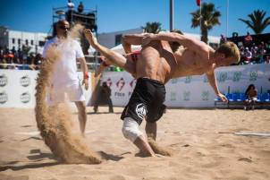 Beach Wrestling.