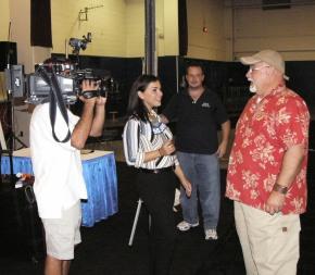 WLNY-TV 55 at the Nassau Coliseum Home Show.