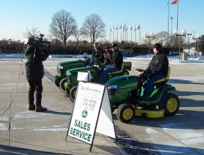 A John Deere vendor during one of the Home Shows at the Nassau Coliseum.
