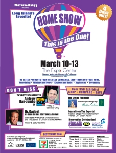 A flyer for the March 2010 Home Show at the Nassau Coliseum.