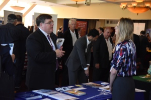 Trade show attendees at Trade Nassau in Farmingdale, NY on Oct. 21, 2015.